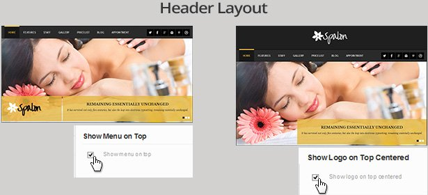 wordpress masaj salonu tema header